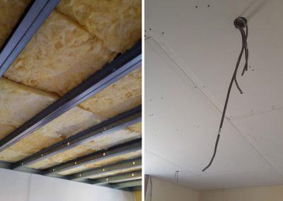 Création d'un plafond autoportant avec isolant phonique
