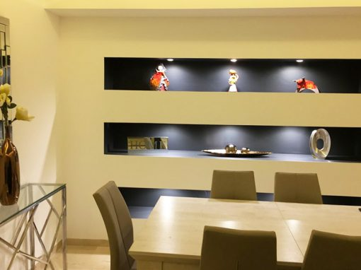 Aménagement intérieur : meubles et cloisons en plaques de plâtre