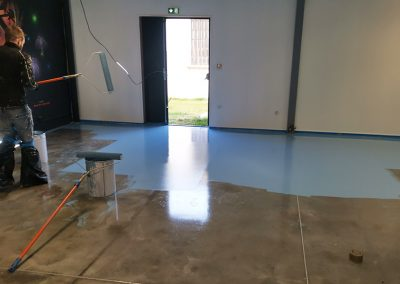 Application peinture sol à base de résine polyuréthane